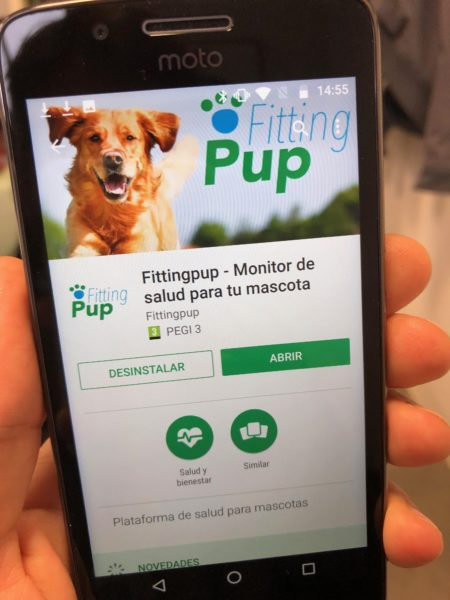 Fittingpup disponible en Google Play